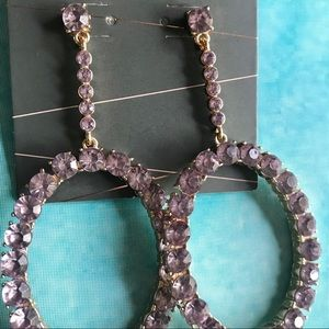BaubleBar Jewelry - Sugarfix by BaubleBar Purple Hoop Earrings NWT